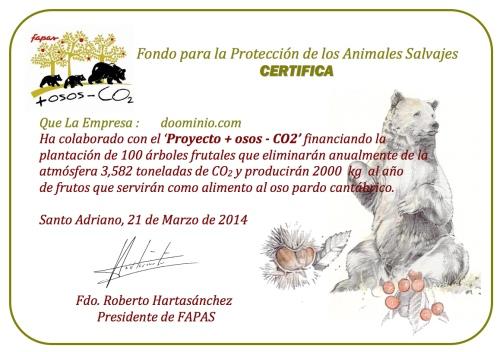 Certificado Fapas
