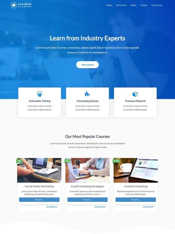 Plantilla Web WordPress