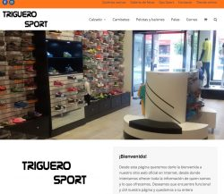 Web con tienda online de Triguero Sport