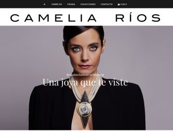 Web de Camelia Ríos con tienda online